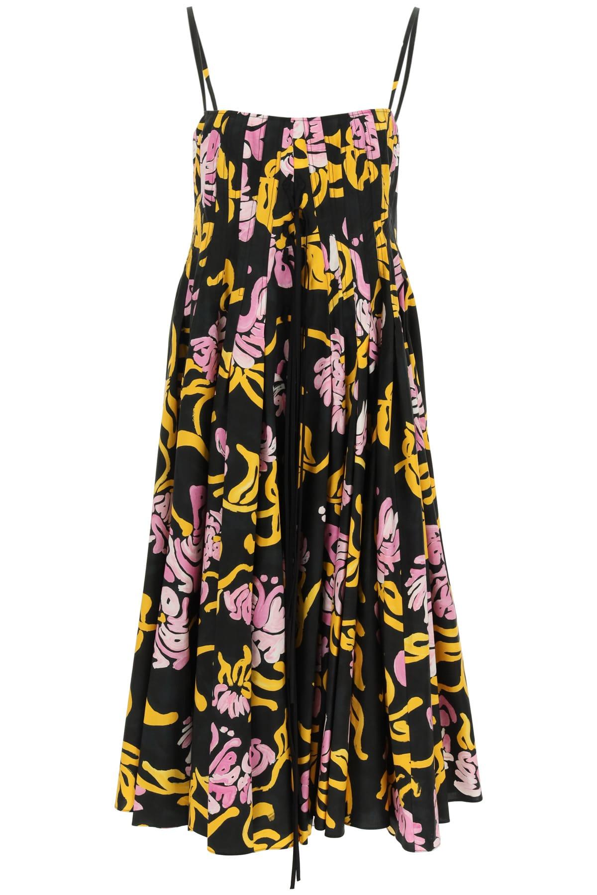 Buy Marni Floral Print Midi Dress online, shop Marni with free shipping