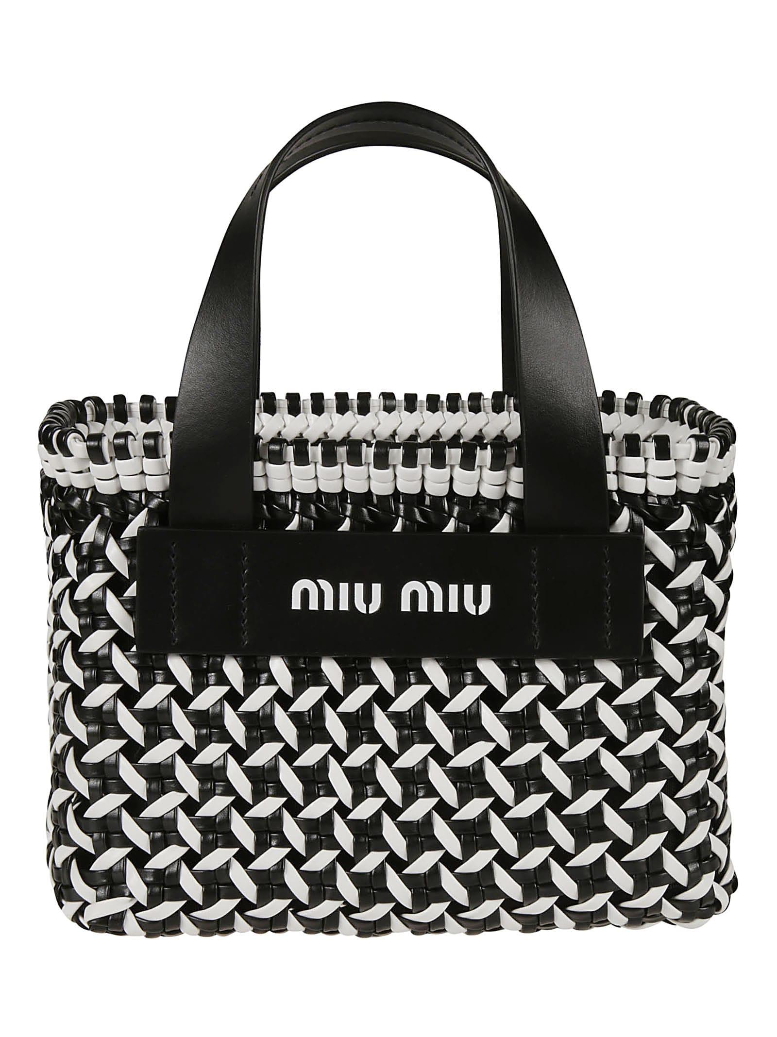Miu Miu Woven Shopper Bag