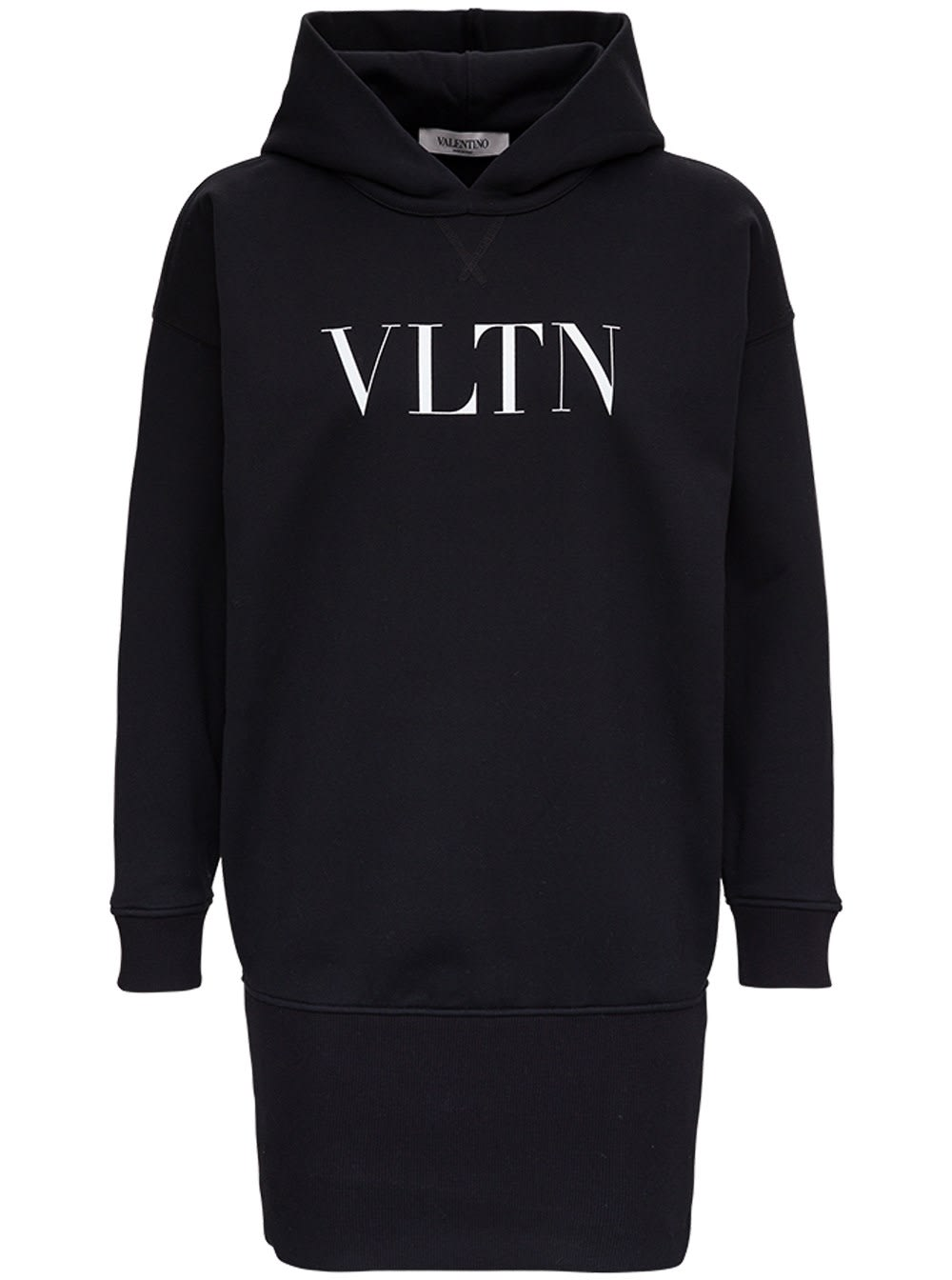 Valentino Hooded Dress With Logo Print