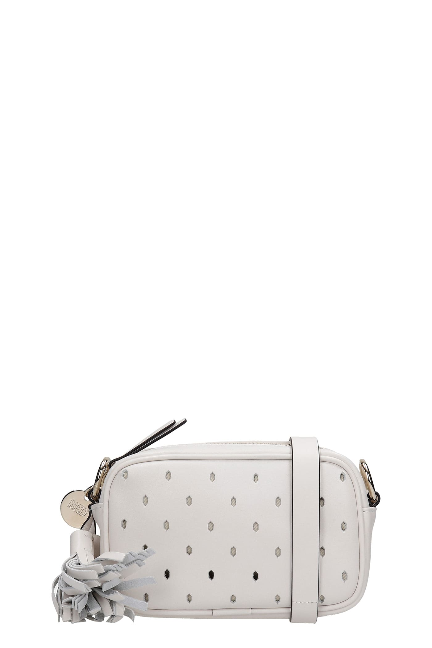 RED Valentino Shoulder Bag In White Leather