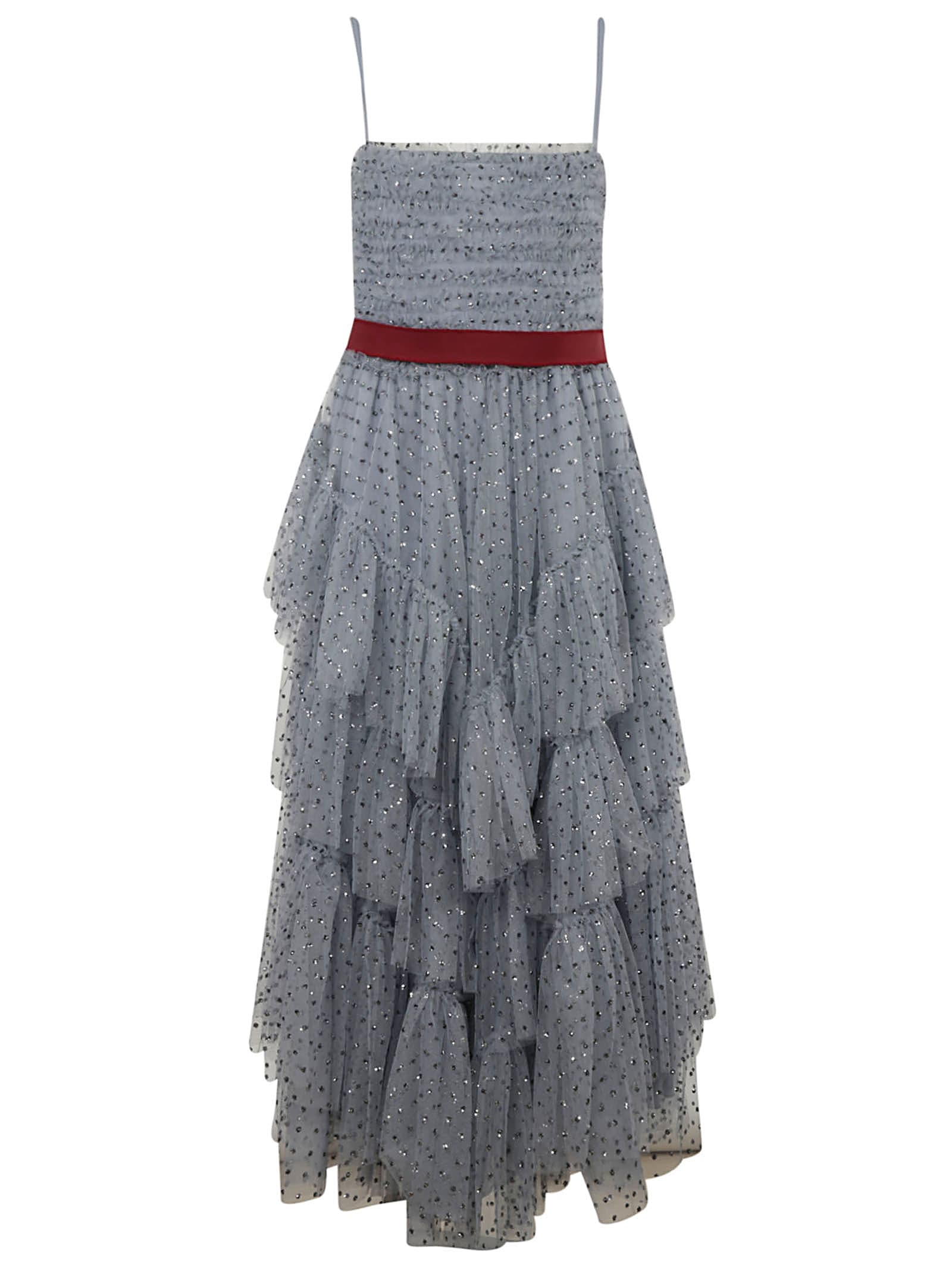 Red Valentino Dresses LONG RUFFLED SKIRT DRESS