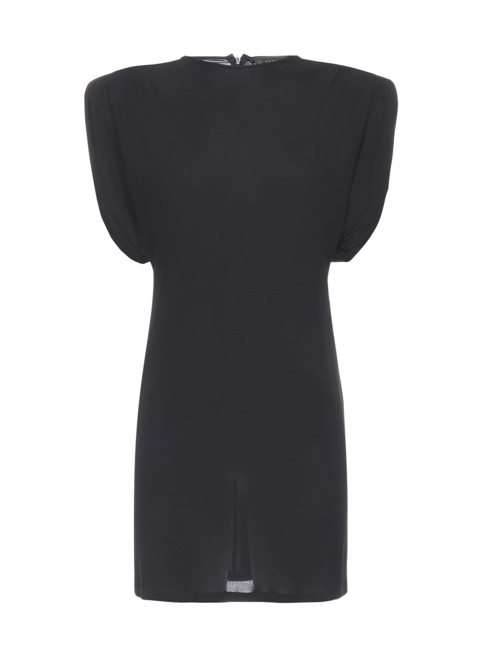 Buy Versace Sheath Dress With Shoulder Padding online, shop Versace with free shipping