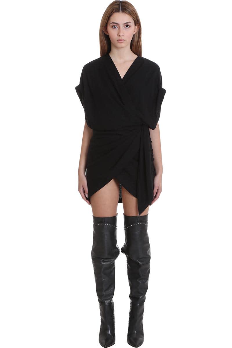 Buy IRO Gidya Dress In Black Cotton online, shop IRO with free shipping