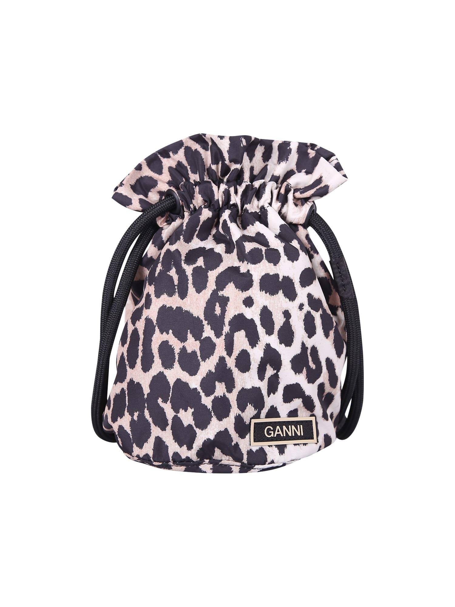 Ganni Bucket bags LEOPARD PRINT BAG