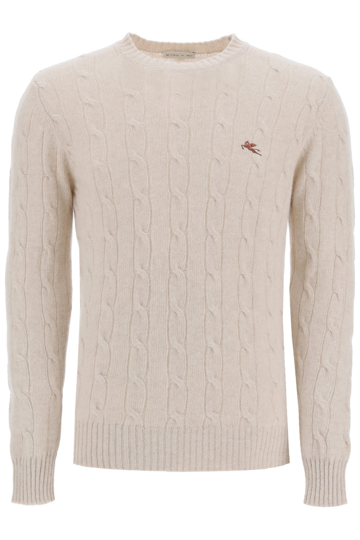 Etro CABLE KNIT WOOL SWEATER