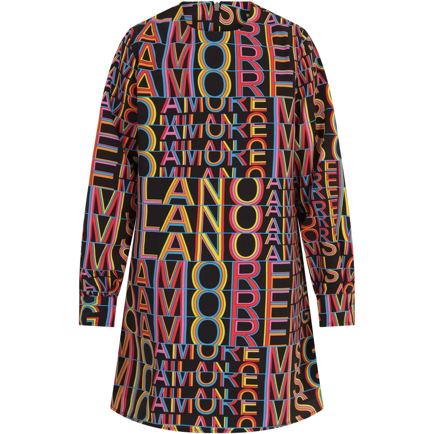 Buy MSGM Black msgm Amore Mio Girl Dress online, shop MSGM with free shipping