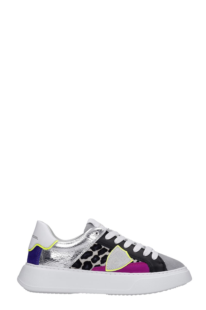 Philippe Model TEMPLE L.D. SNEAKERS IN MULTICOLOR LEATHER