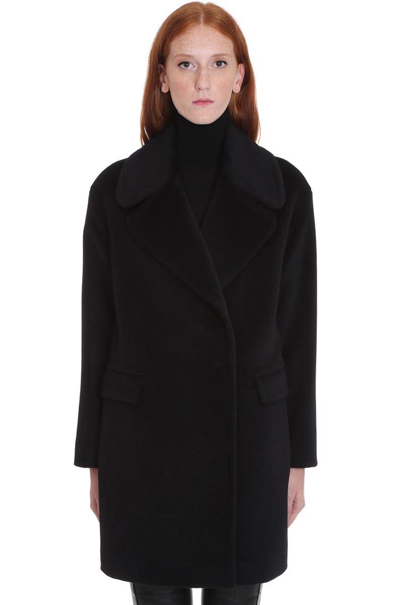 Tagliatore 0205 Astrid Coat In Black Wool