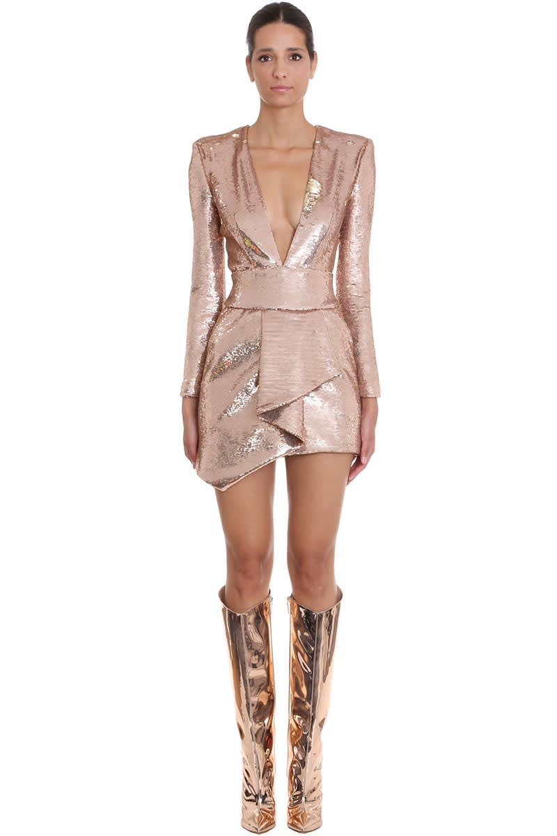 Alexandre Vauthier Dress In Rose-pink Polyester
