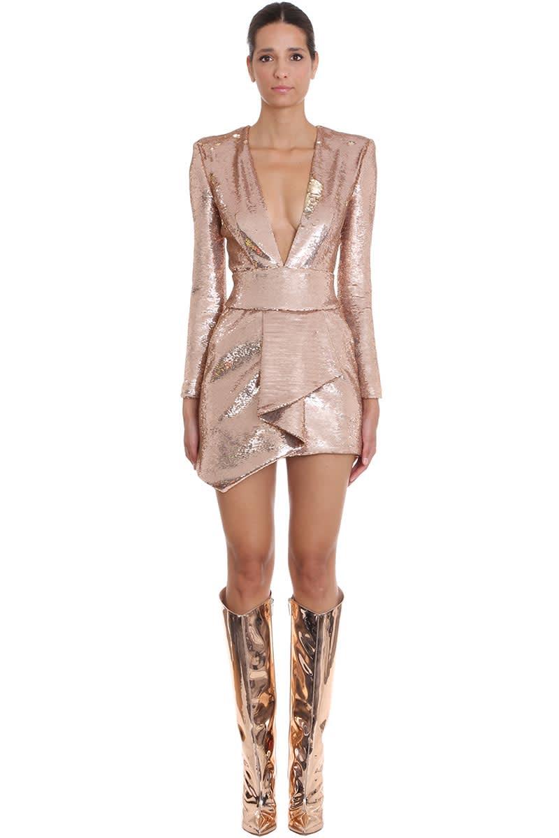 Photo of  Alexandre Vauthier Dress In Rose-pink Polyester- shop Alexandre Vauthier  online sales