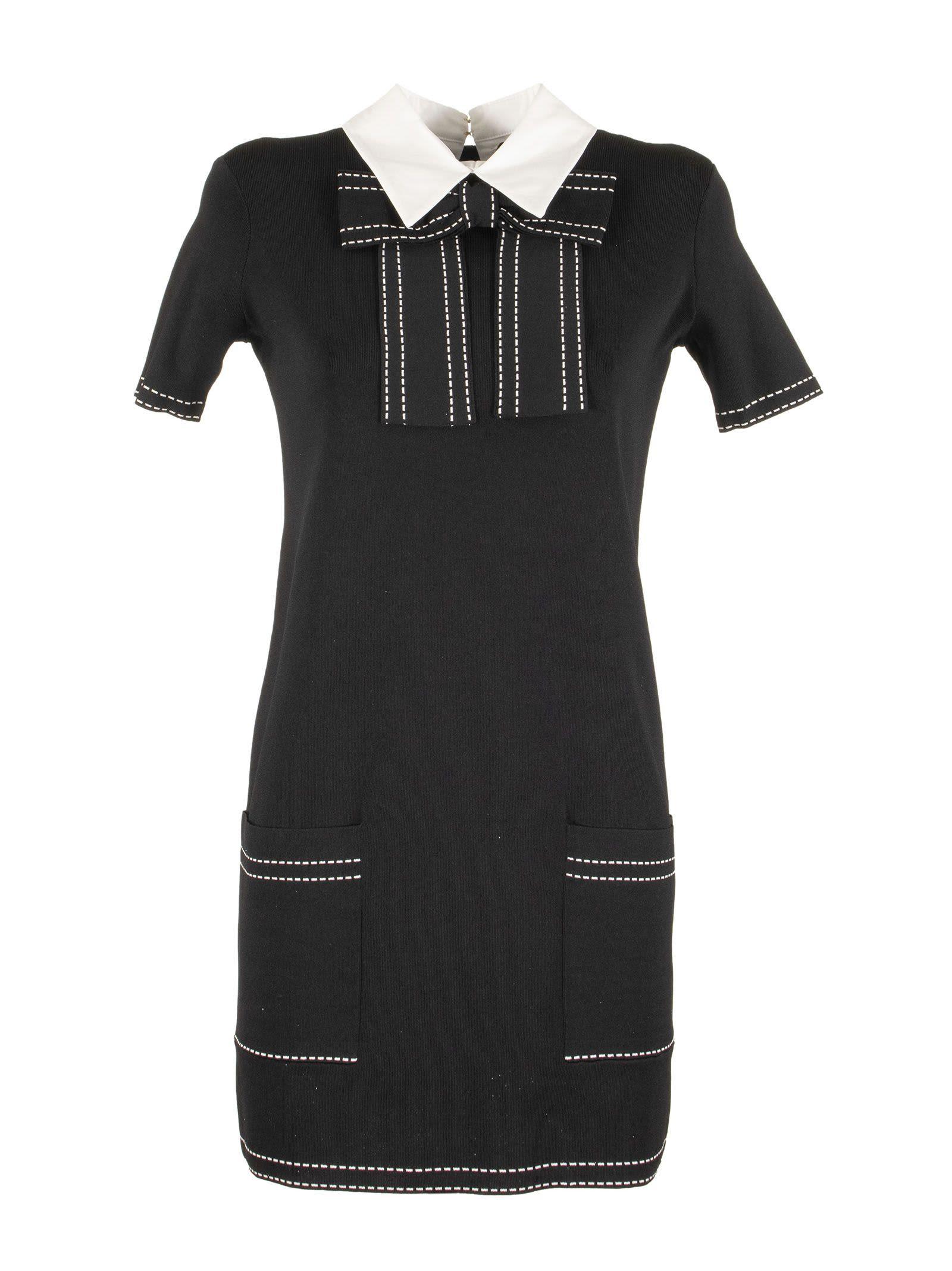 Buy Elisabetta Franchi Celyn B. Knit Dress With Bow online, shop Elisabetta Franchi Celyn B. with free shipping