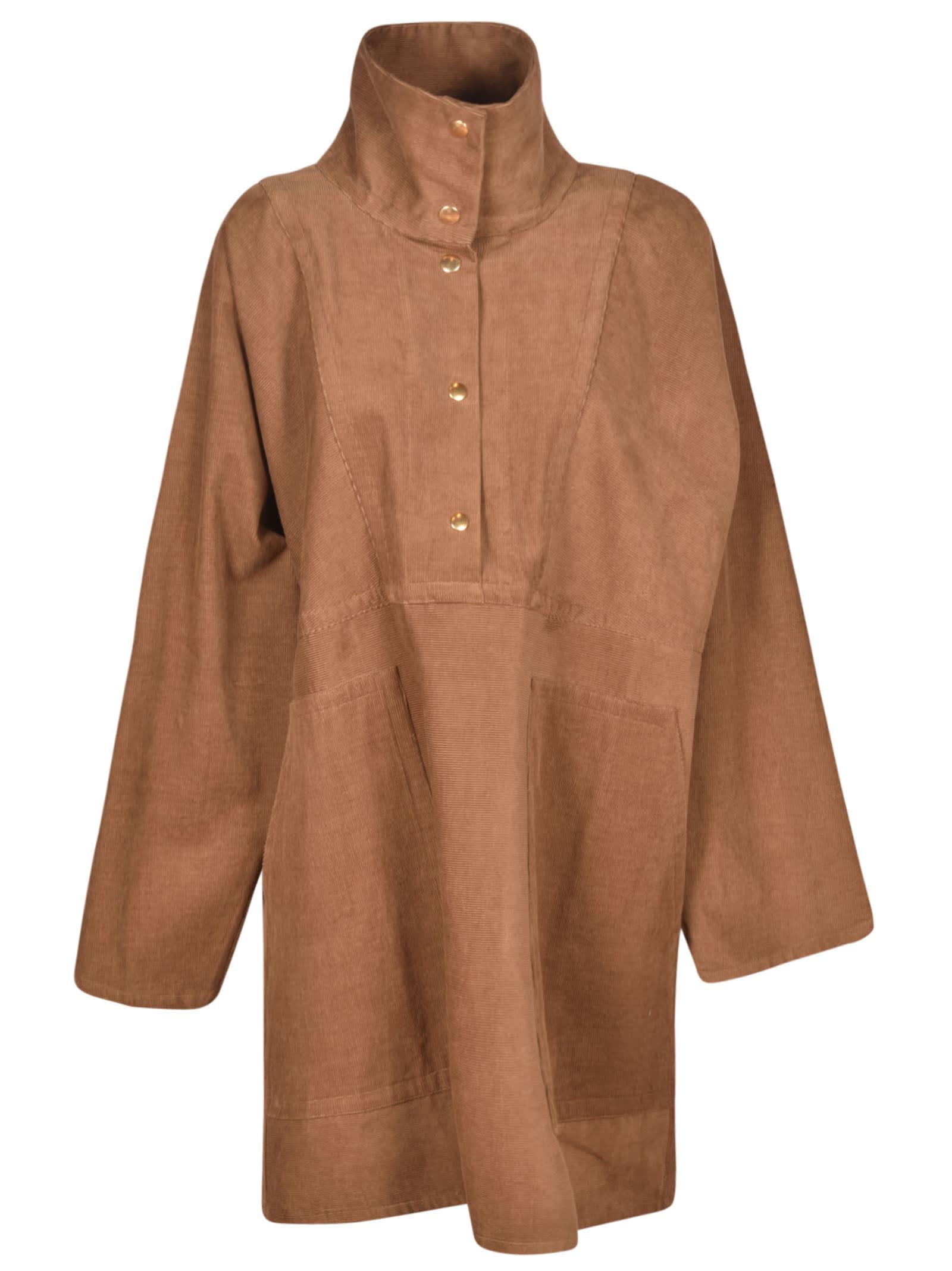 Sofie D'hoore High-neck Oversized Short Dress In Bambi