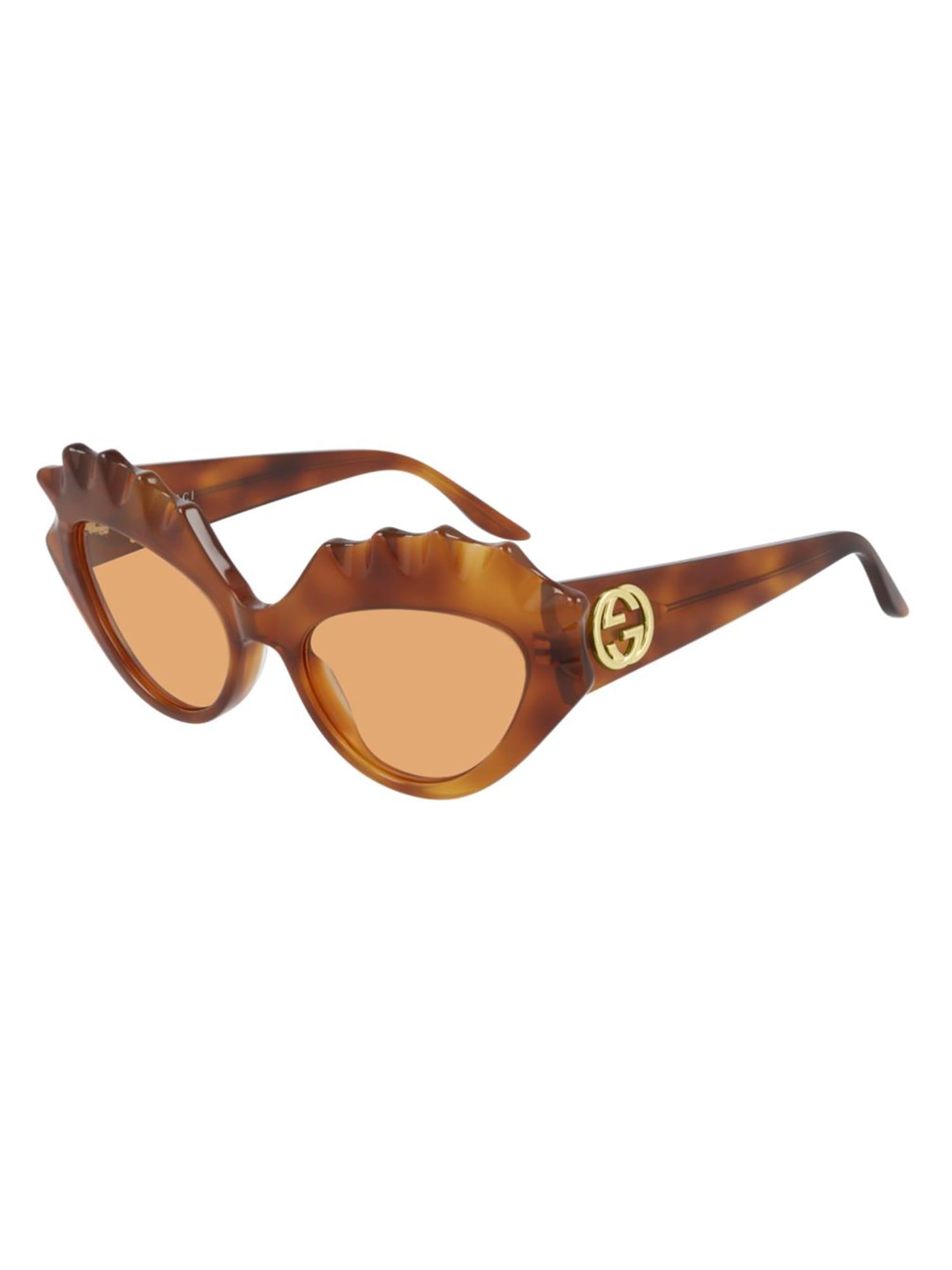 Gucci Gg0781s Sunglasses In Havana Havana Orange