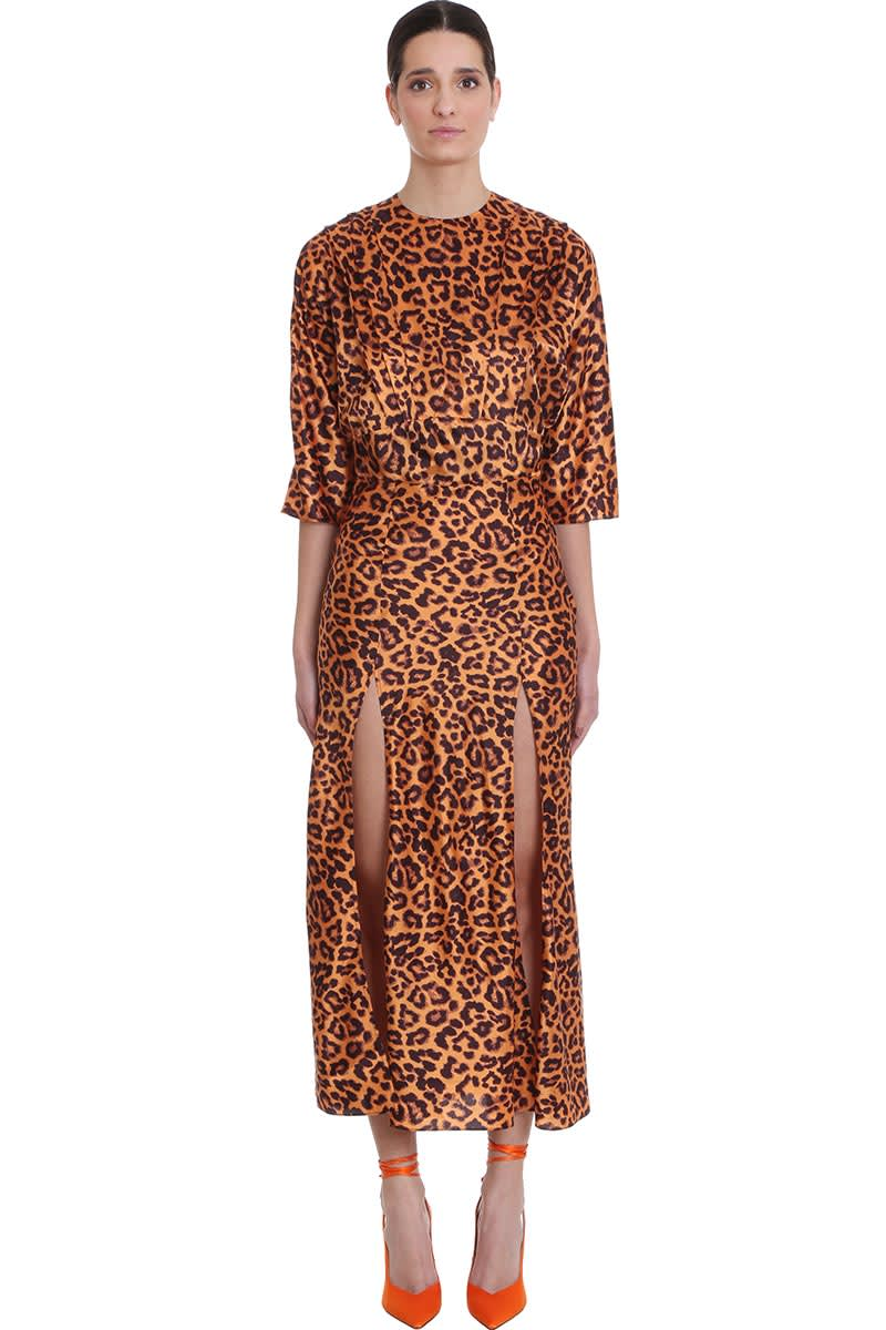 Buy Dress In Animalier Cotton online, shop The Attico with free shipping