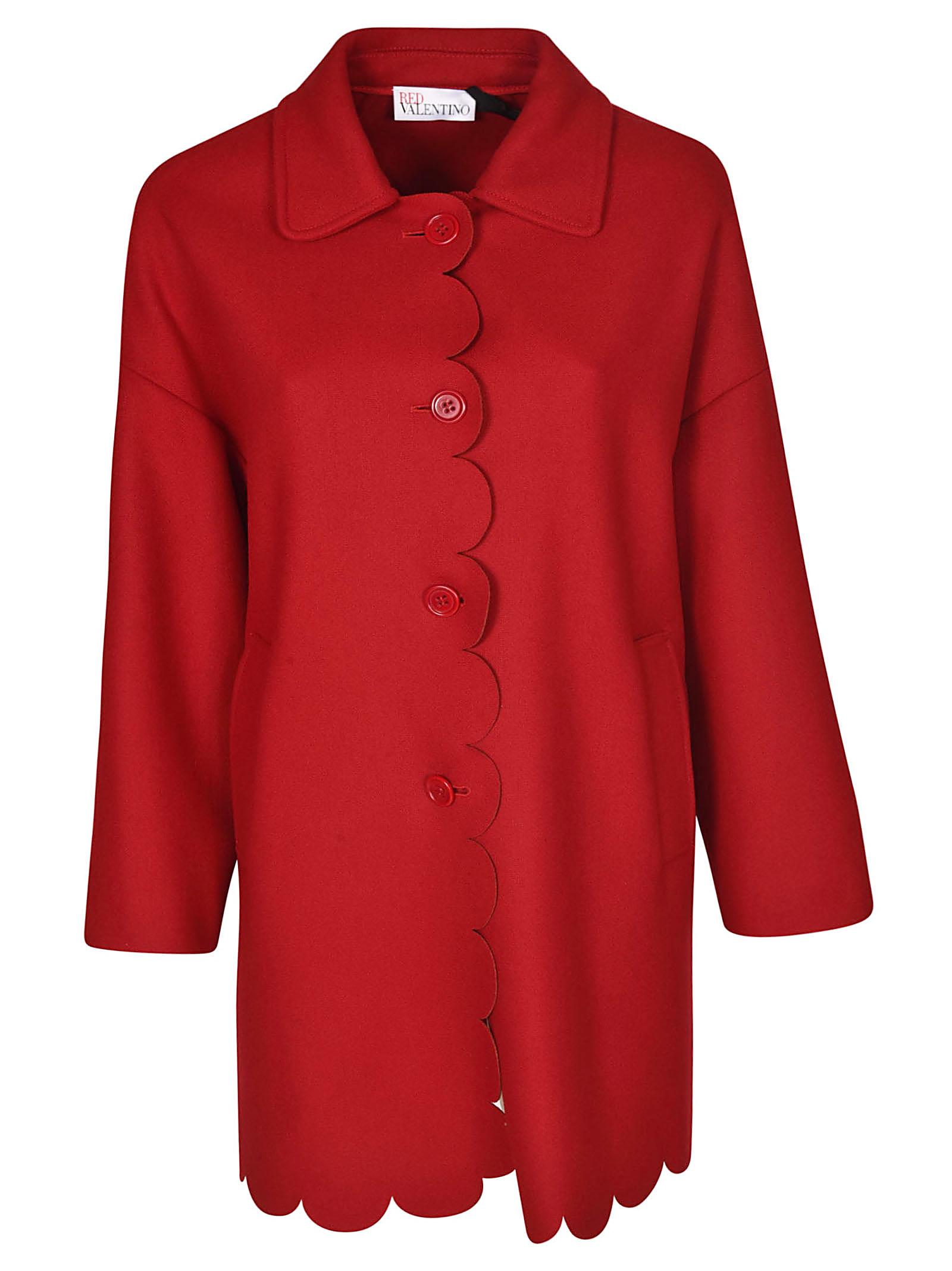 RED Valentino Scalloped Edge Coat