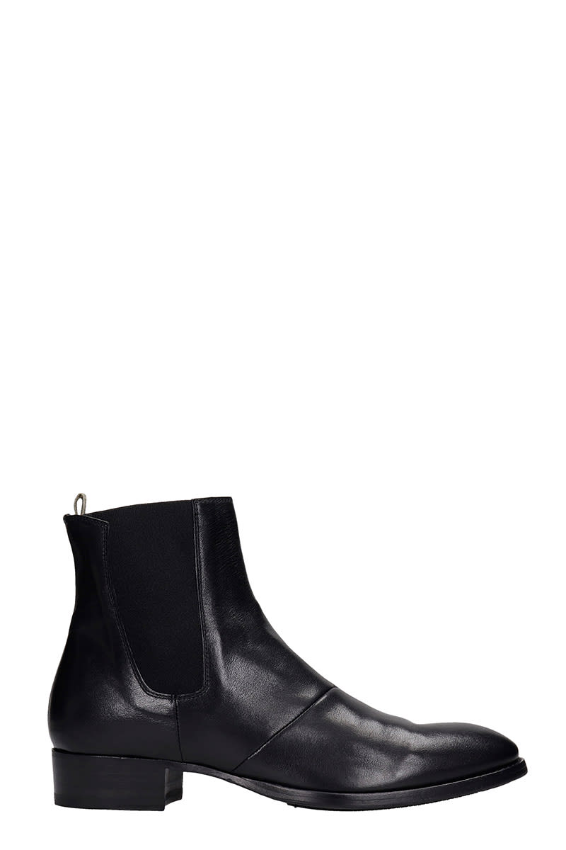 Officine Creative SEAN 006 ANKLE BOOTS IN BLACK LEATHER