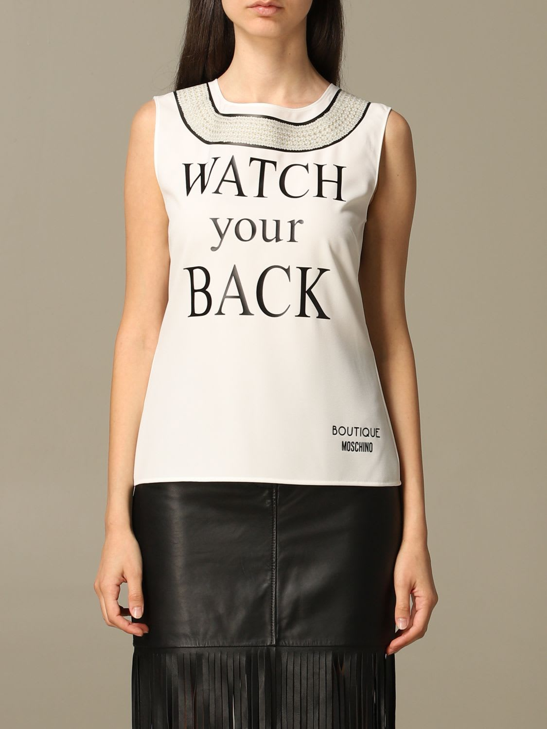 Boutique Moschino Top Top Watch Your Back Boutique Moschino