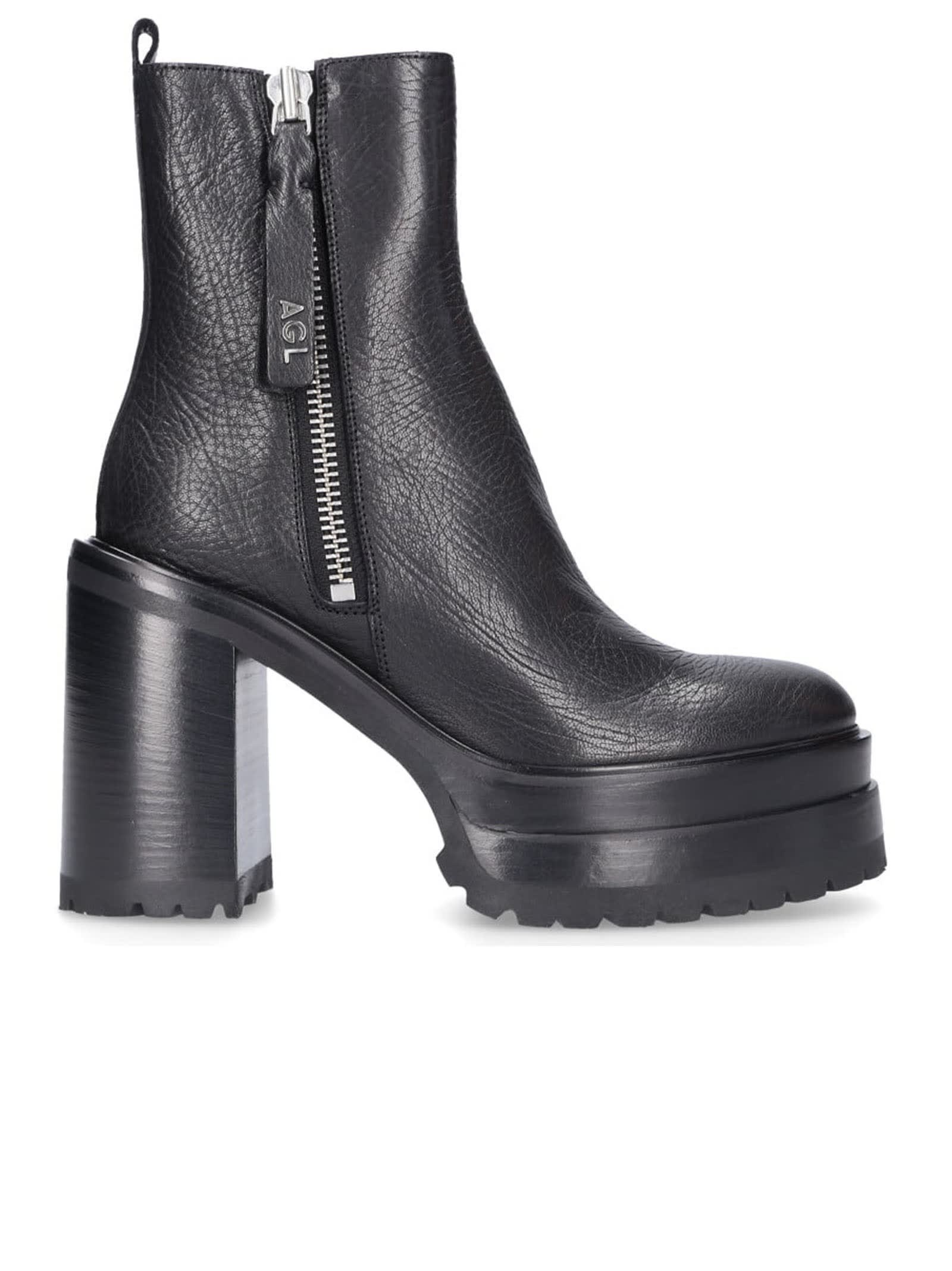 Agl Leather Tora Ankle Boots