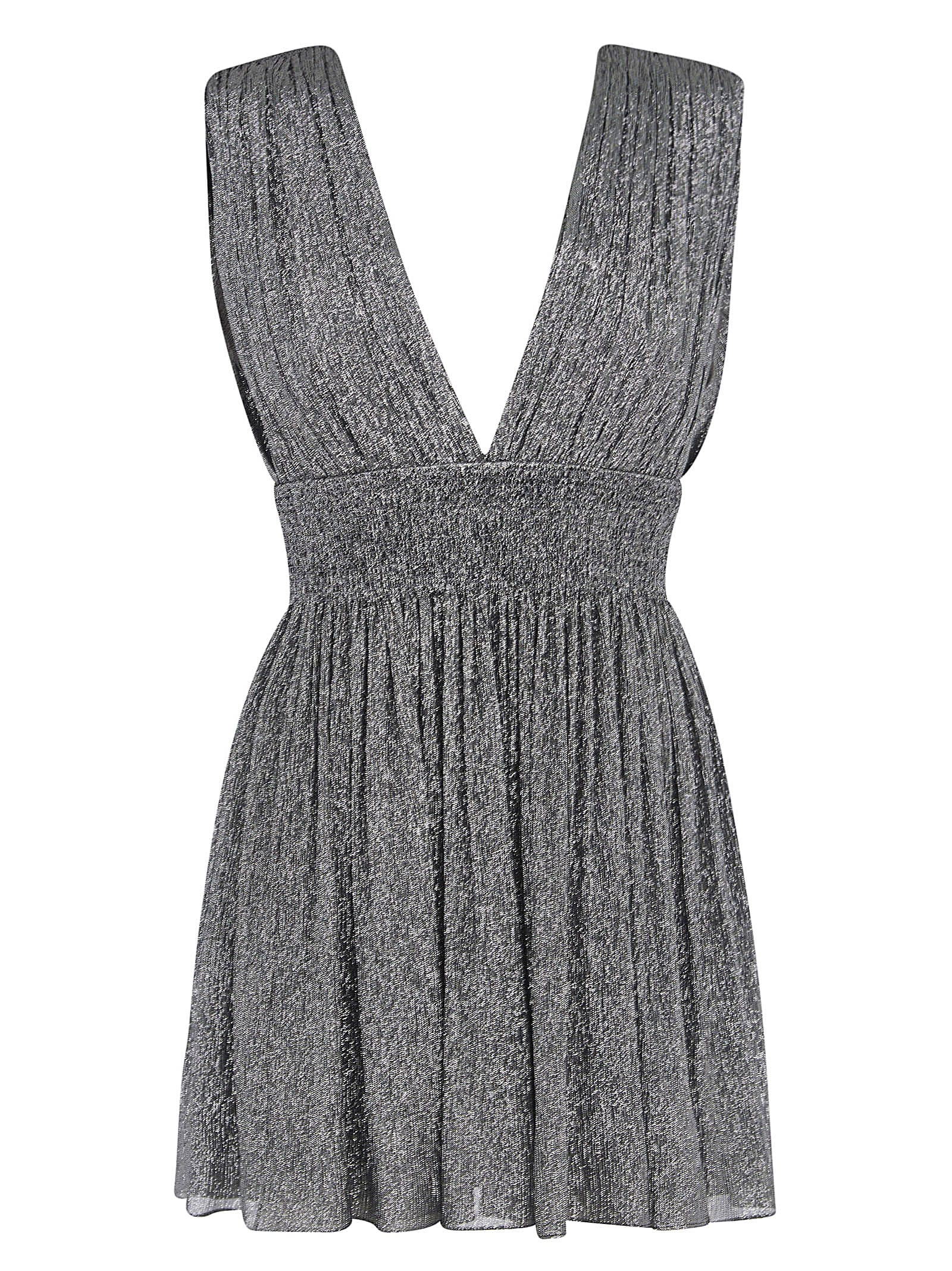 Buy V-neck Glittery Sleeveless Dress online, shop Saint Laurent with free shipping
