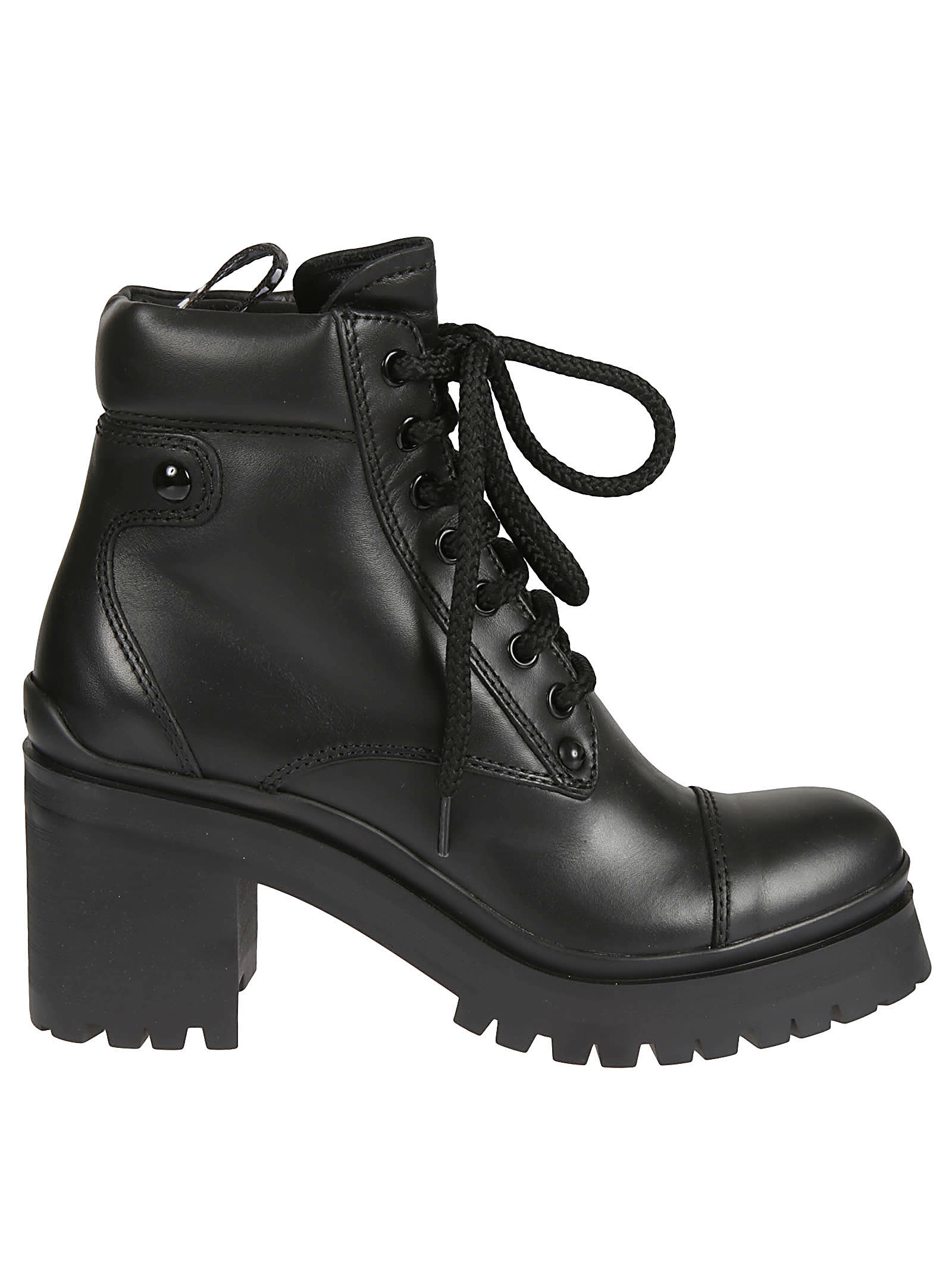 Miu Miu BLOCK HEEL LACE-UP BOOTS
