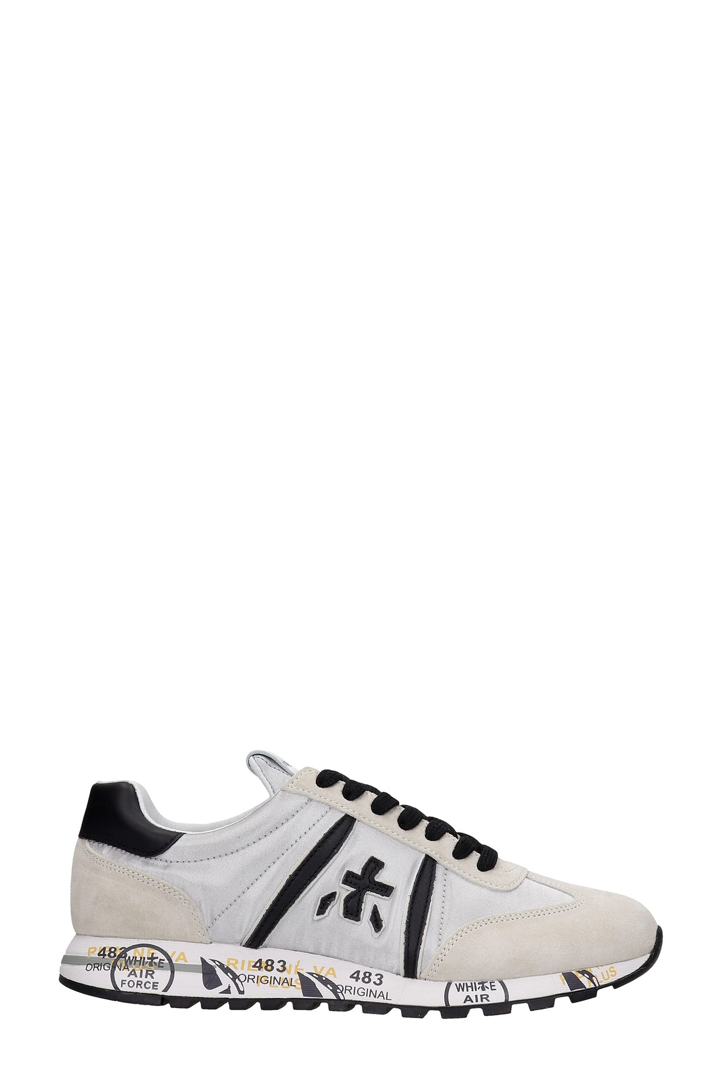 Premiata LUCY SNEAKERS IN GREY SYNTHETIC FIBERS