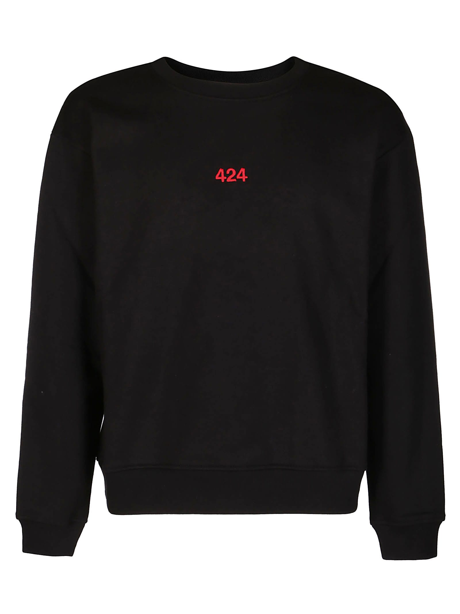 FourTwoFour on Fairfax Black Cotton Sweatshirt