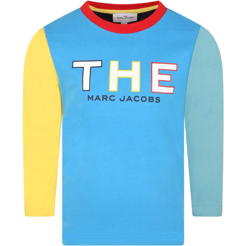 Multicolor T-shirt For Kids Whit Logo