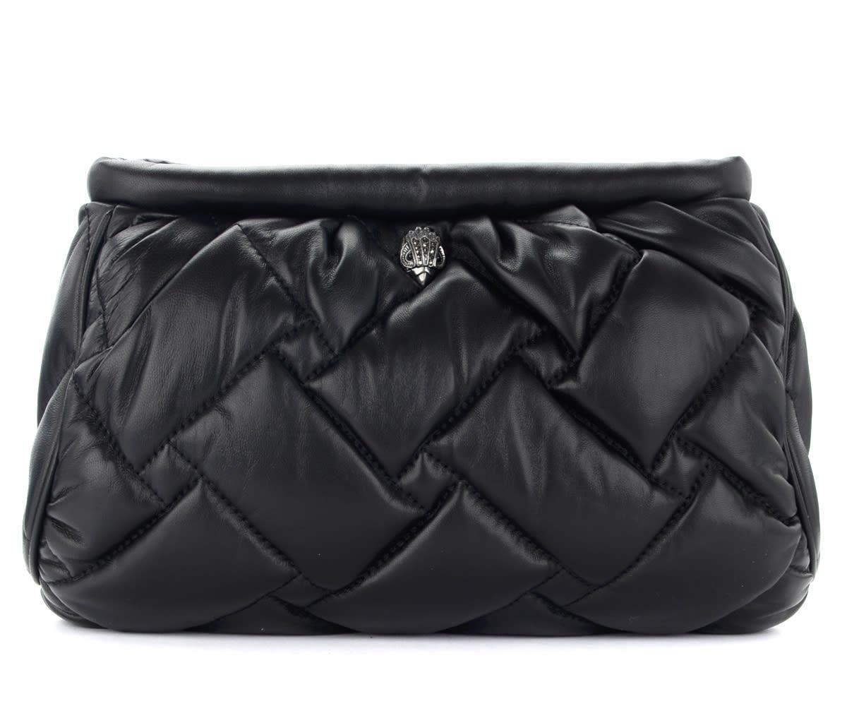 Kensington Soft Clutch Bag In Black Leather