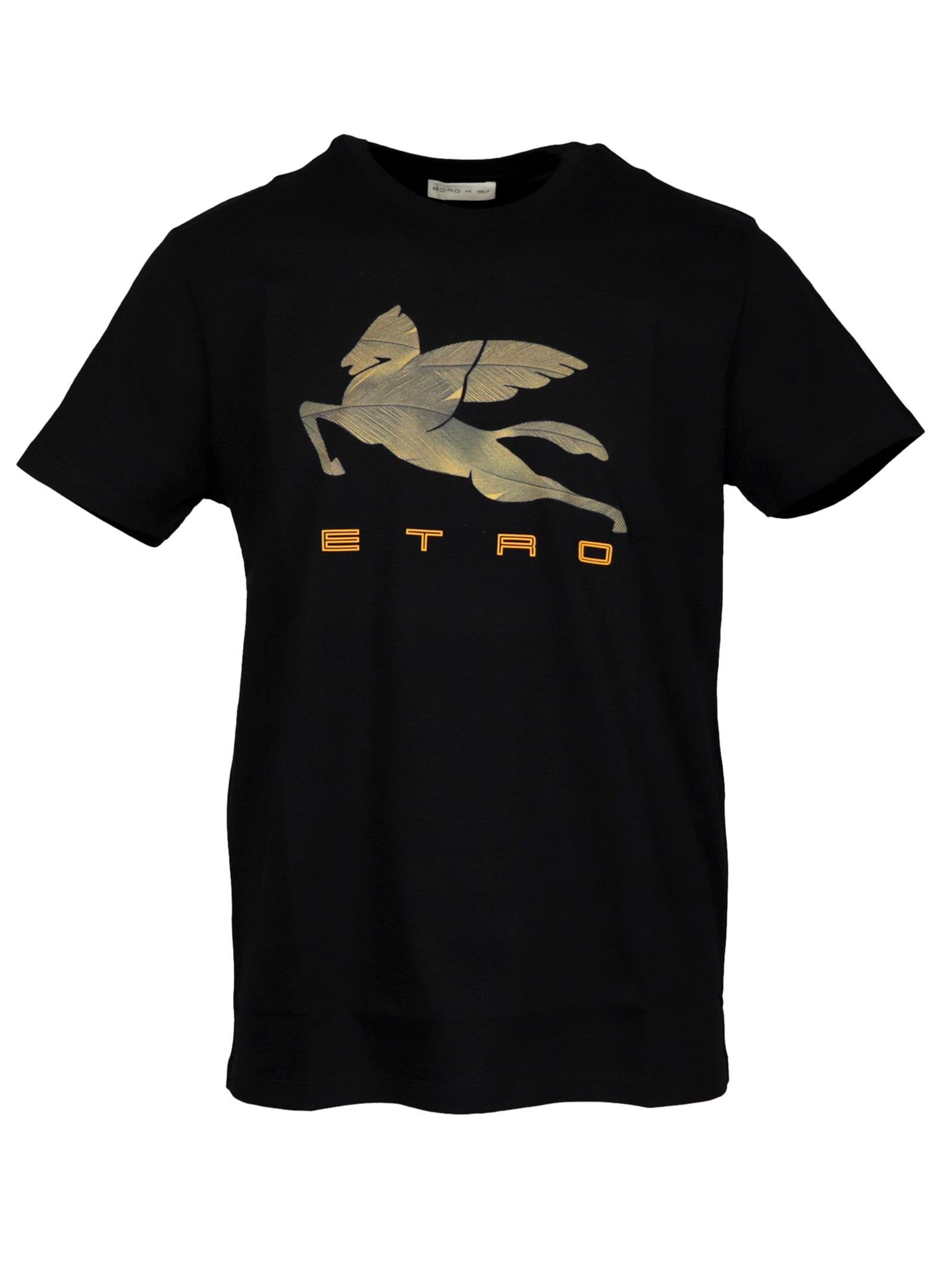 Etro Cotton With Logo T-shirt
