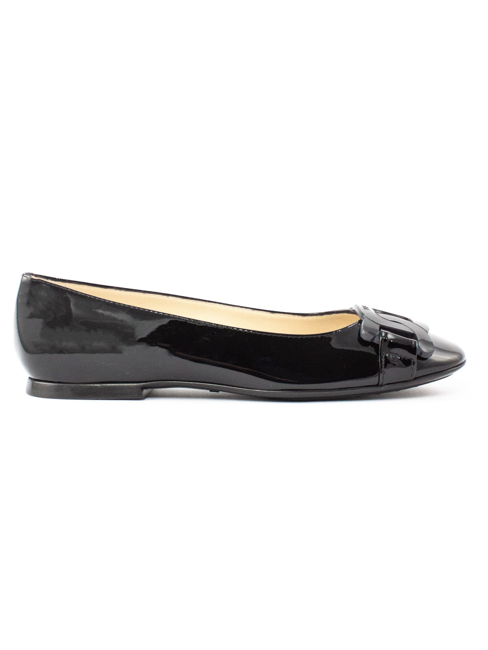 Tods Ballerinas With Black Patent Leather