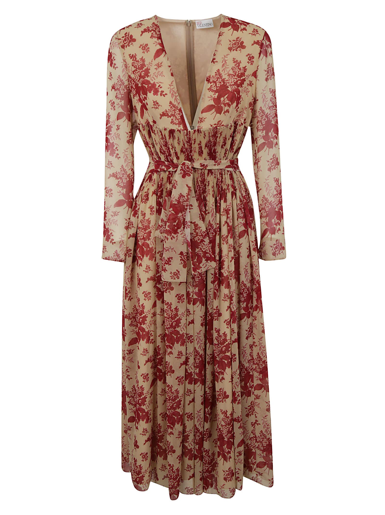 Red Valentino Dresses FLORAL PRINT PLEATED DRESS
