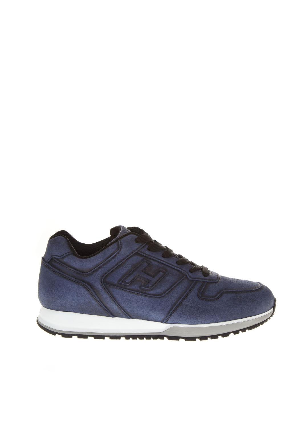 Hogan Blue Leather Sneakers H321
