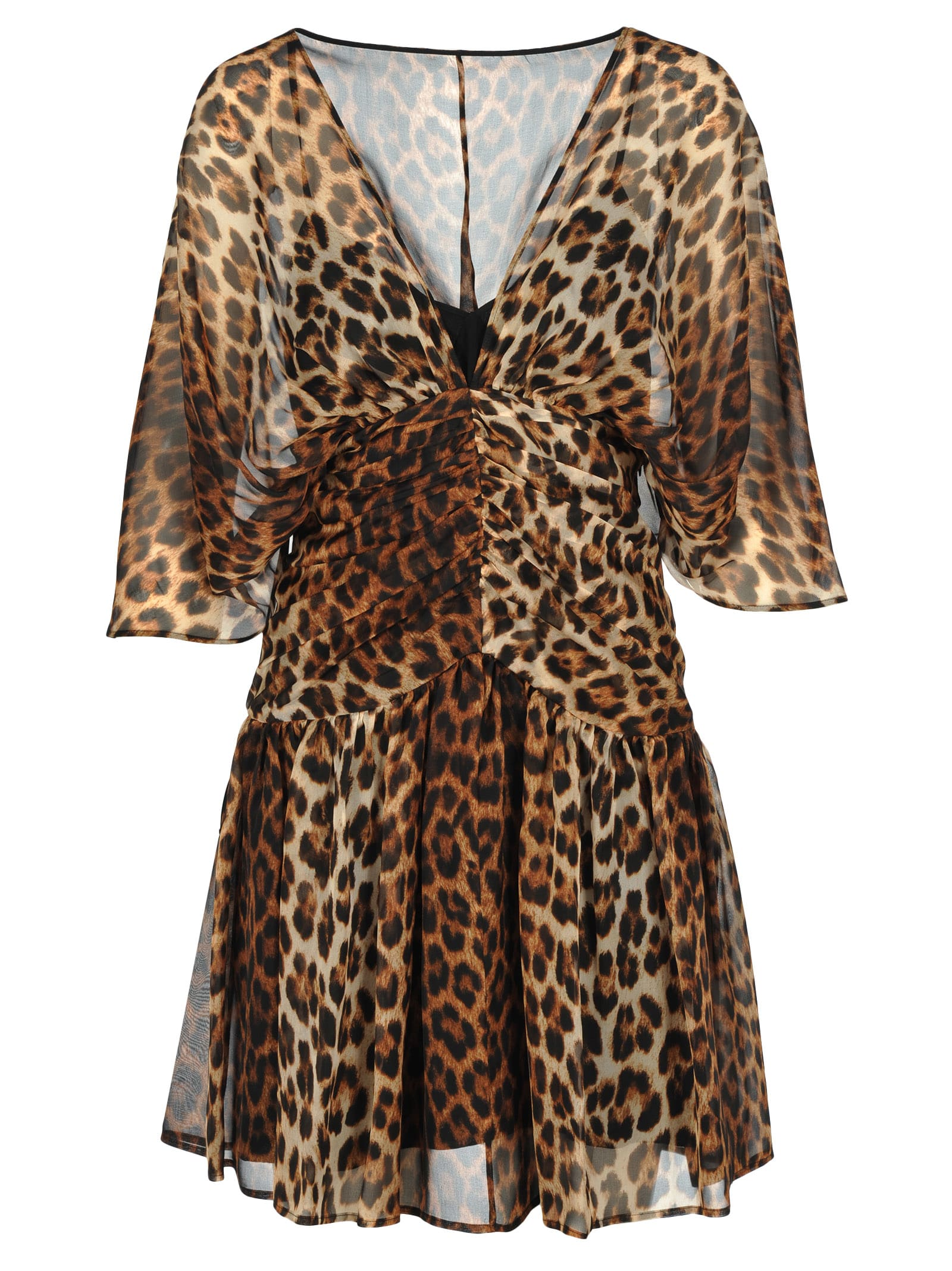 N21 Leopard Print Silk Mini Dress