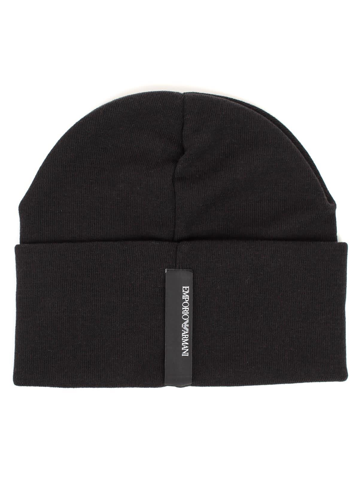 dc8f407099d8 Emporio Armani Emporio Armani Beanie Hat - Nero - 11019486   italist