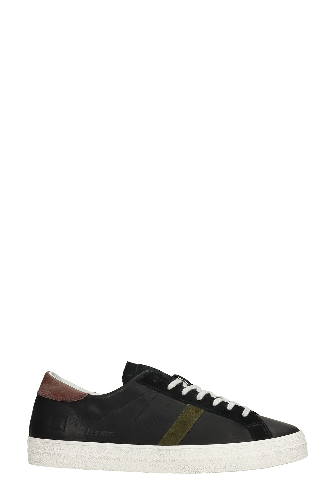 Hill Low Sneakers In Black Suede And Leather
