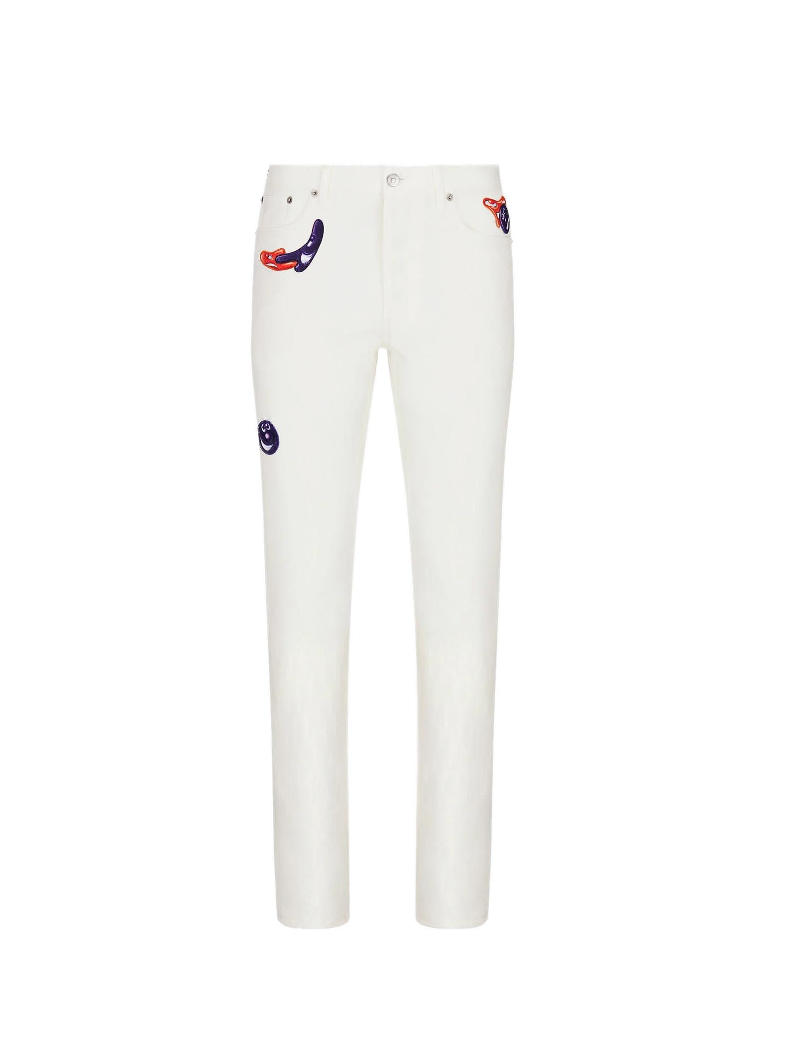 Jeans In White Cotton