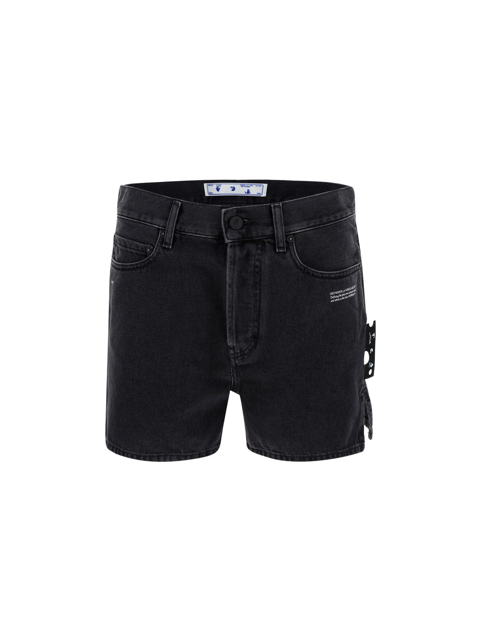 Off-White Shorts OFF WHITE DENIM SHORTS