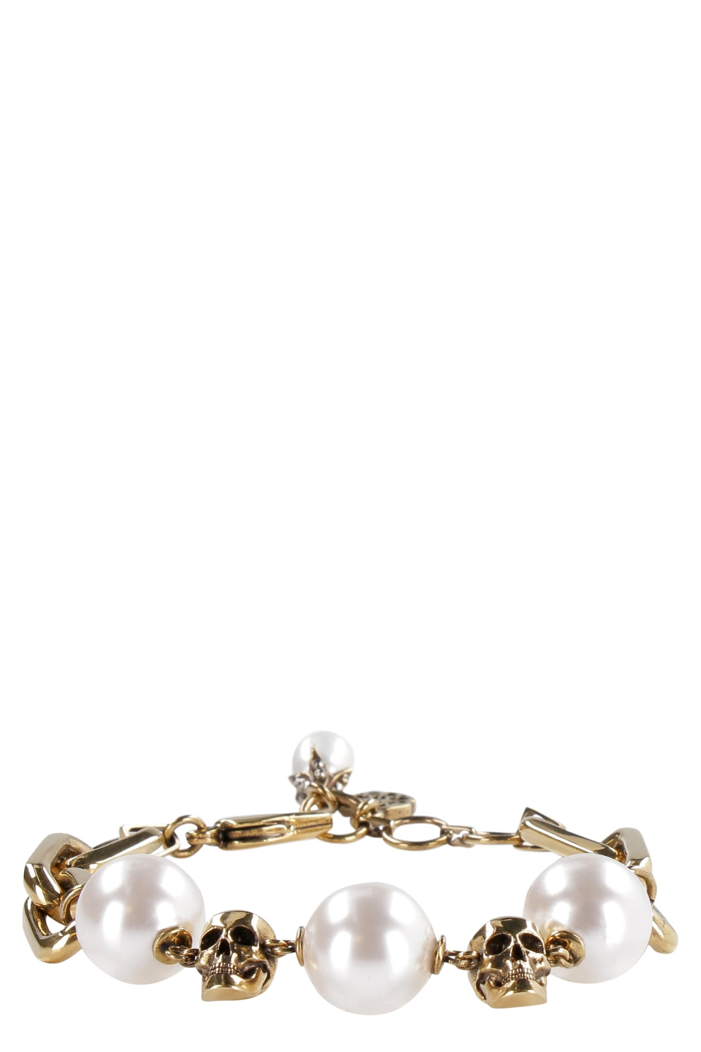 Alexander Mcqueen CHAIN BRACELET WITH PEARLS