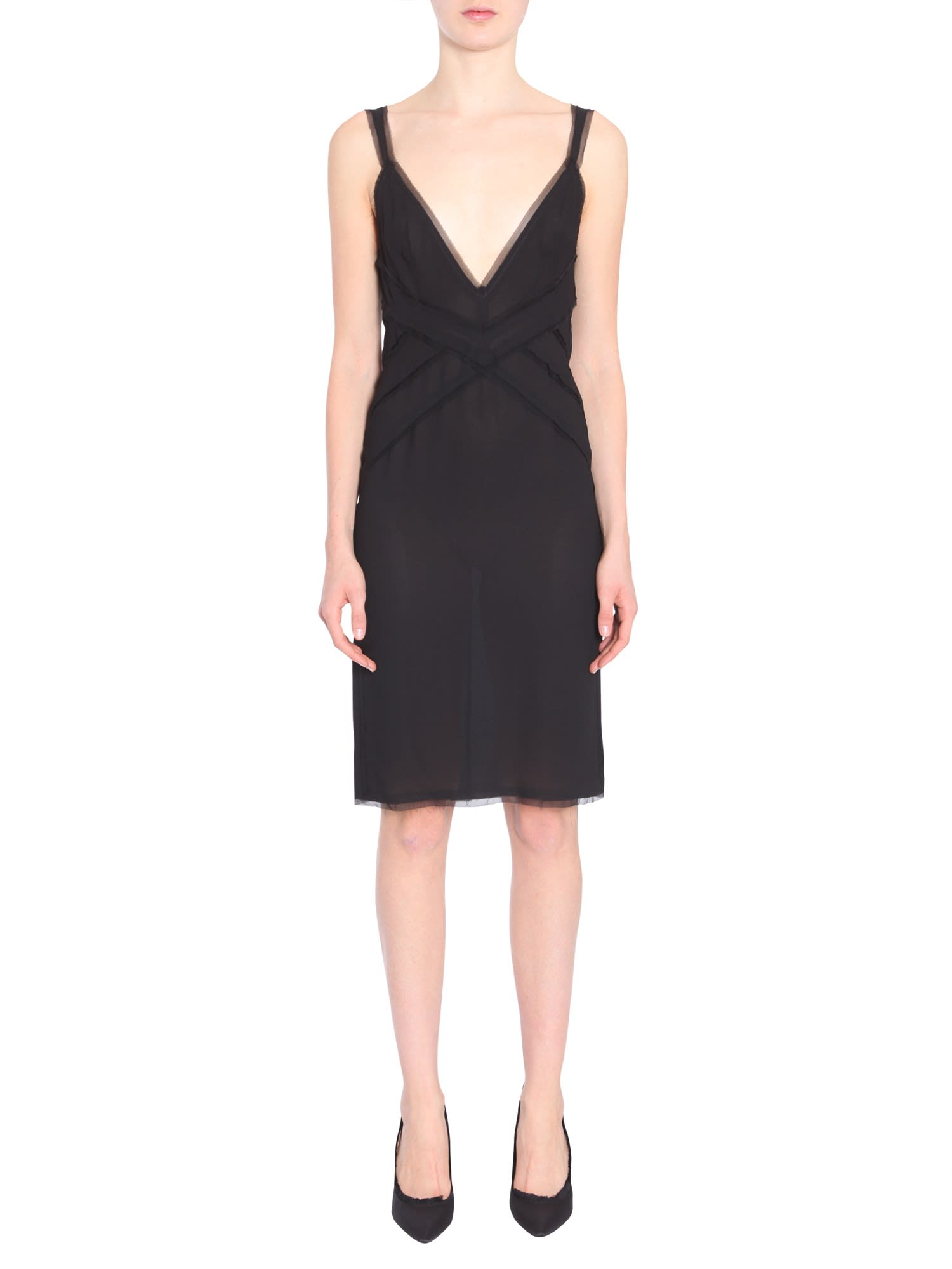 Buy Dsquared2 V Collar Dress online, shop Dsquared2 with free shipping