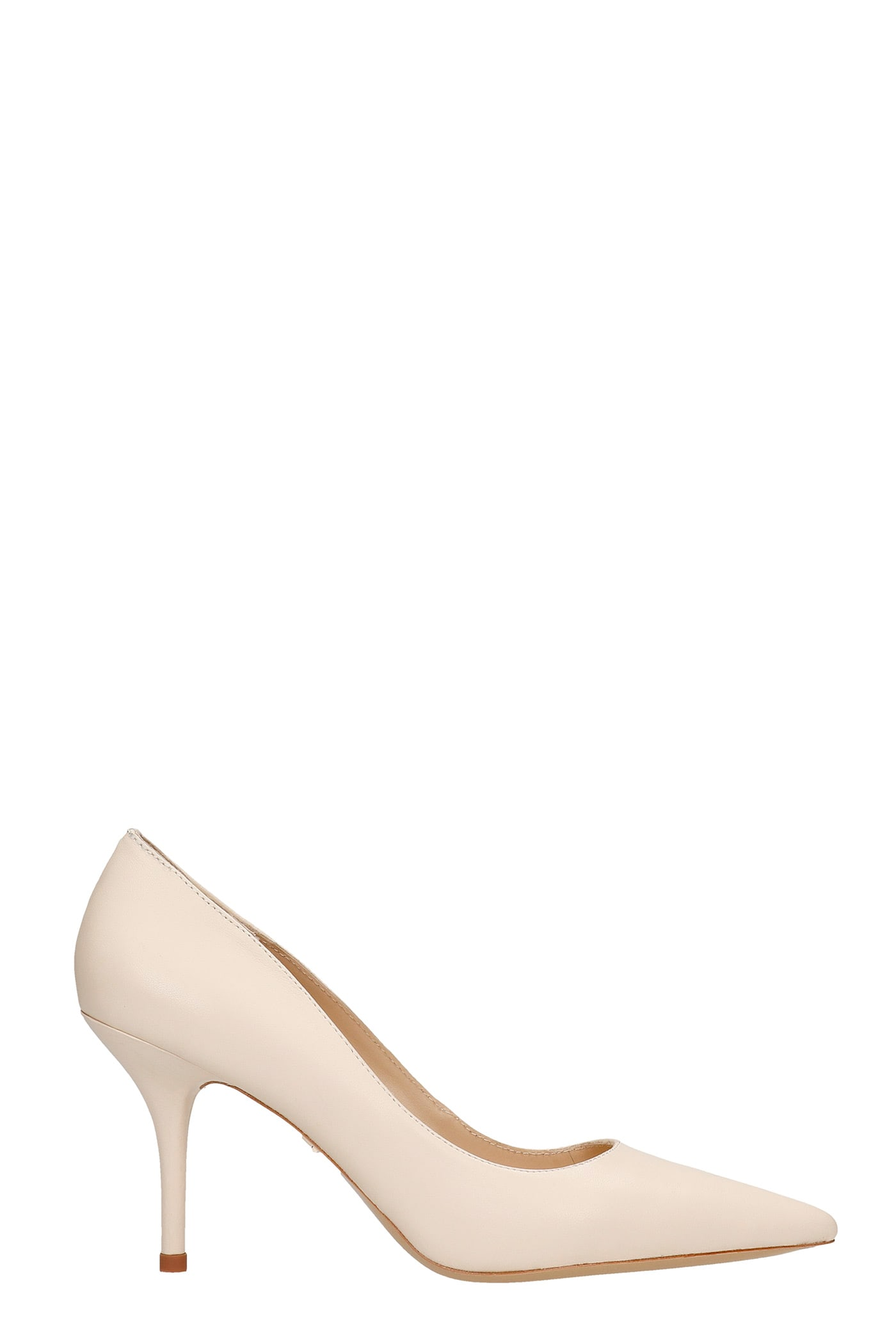 Pumps In Beige Leather