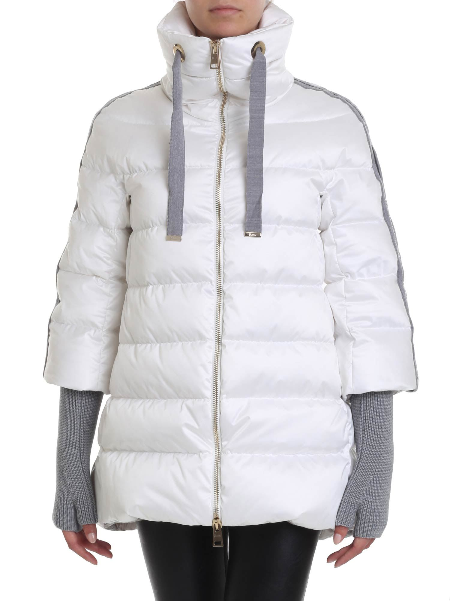 Herno – Resort Down Jacket With Three-quarter Sleeves