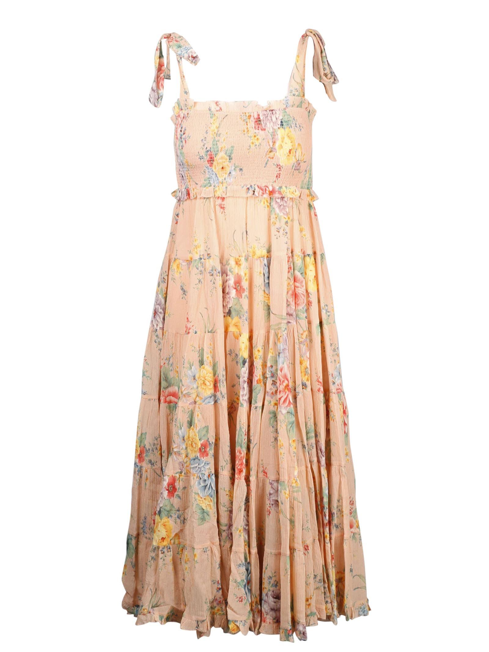 Buy Zimmermann Zinnia Tiered Sun Dress online, shop Zimmermann with free shipping