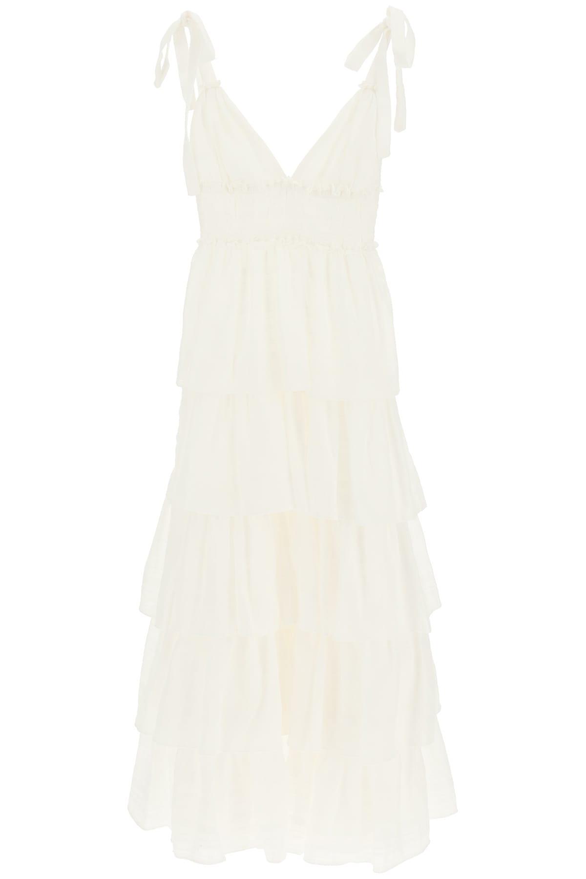 Buy WANDERING Long Flounce Dress online, shop WANDERING with free shipping