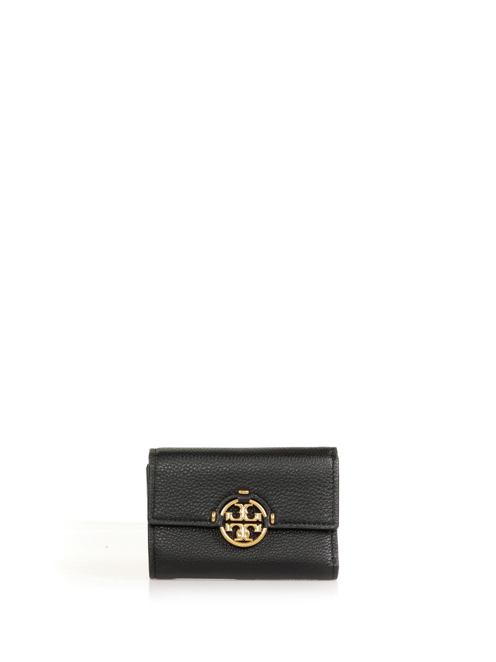 Tory Burch Miller Mini Wallet In Black