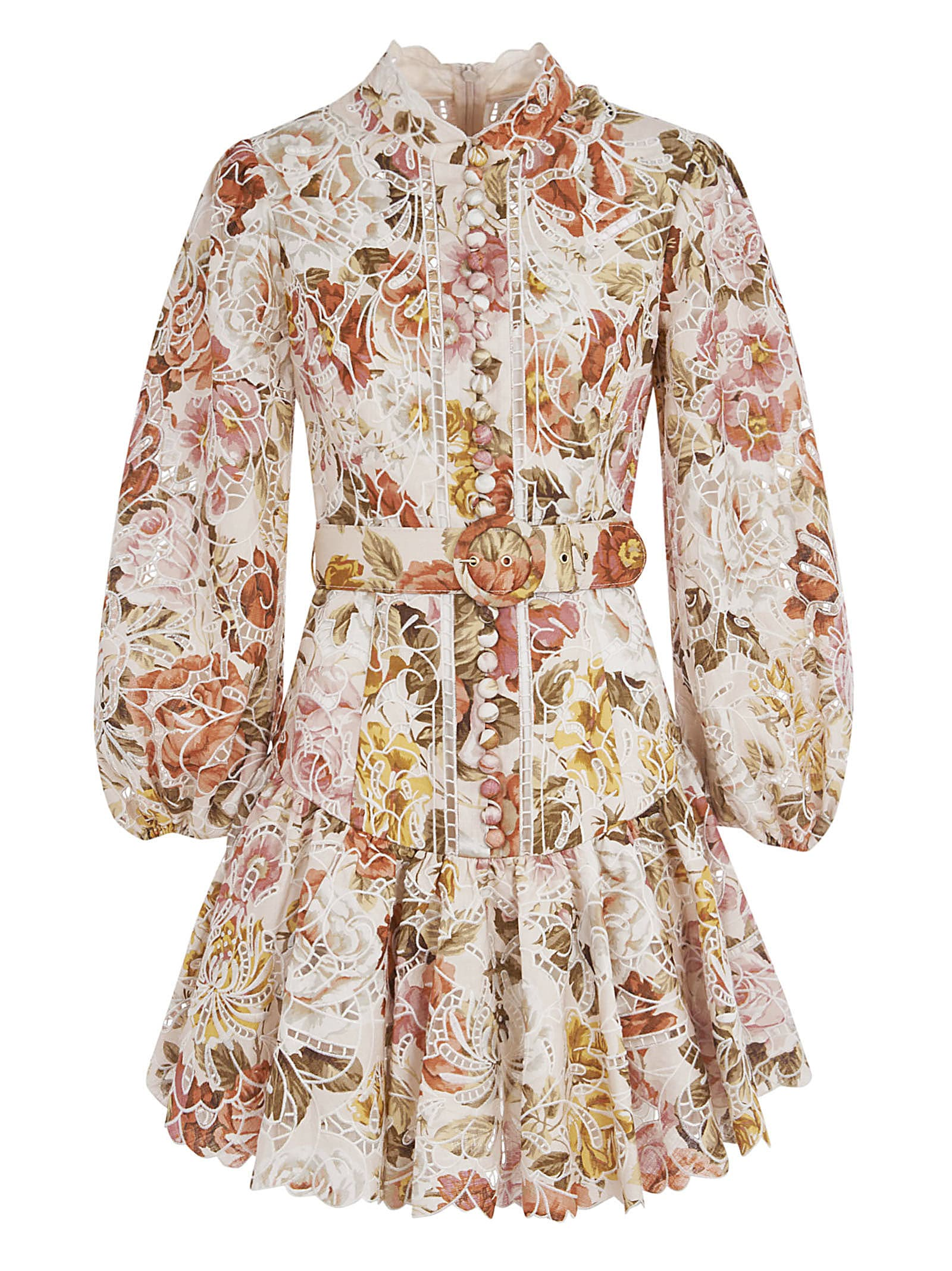 Buy Zimmermann Floral Print Belted Dress online, shop Zimmermann with free shipping