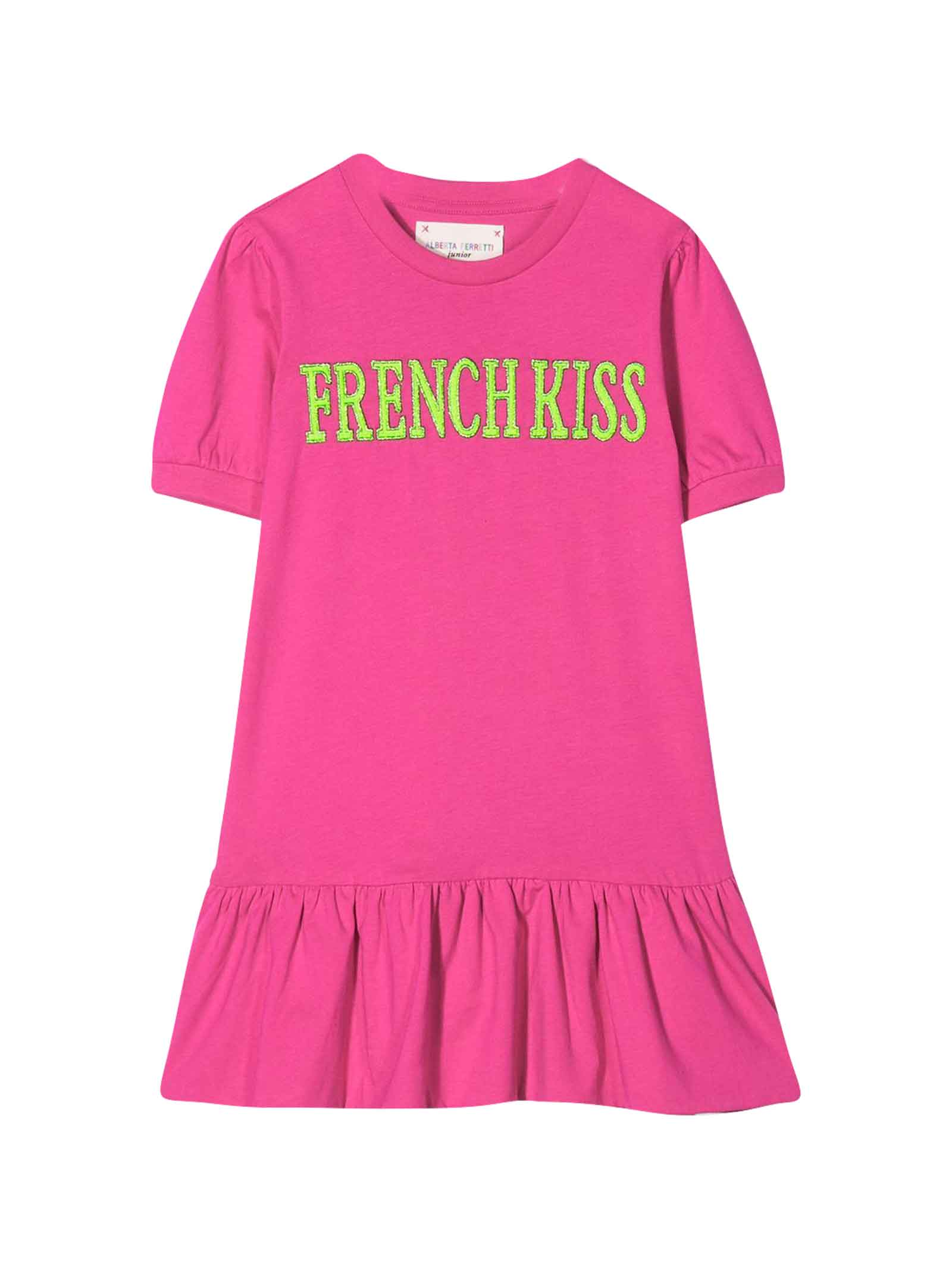Buy Alberta Ferretti Fuchsia Dress With Press online, shop Alberta Ferretti with free shipping