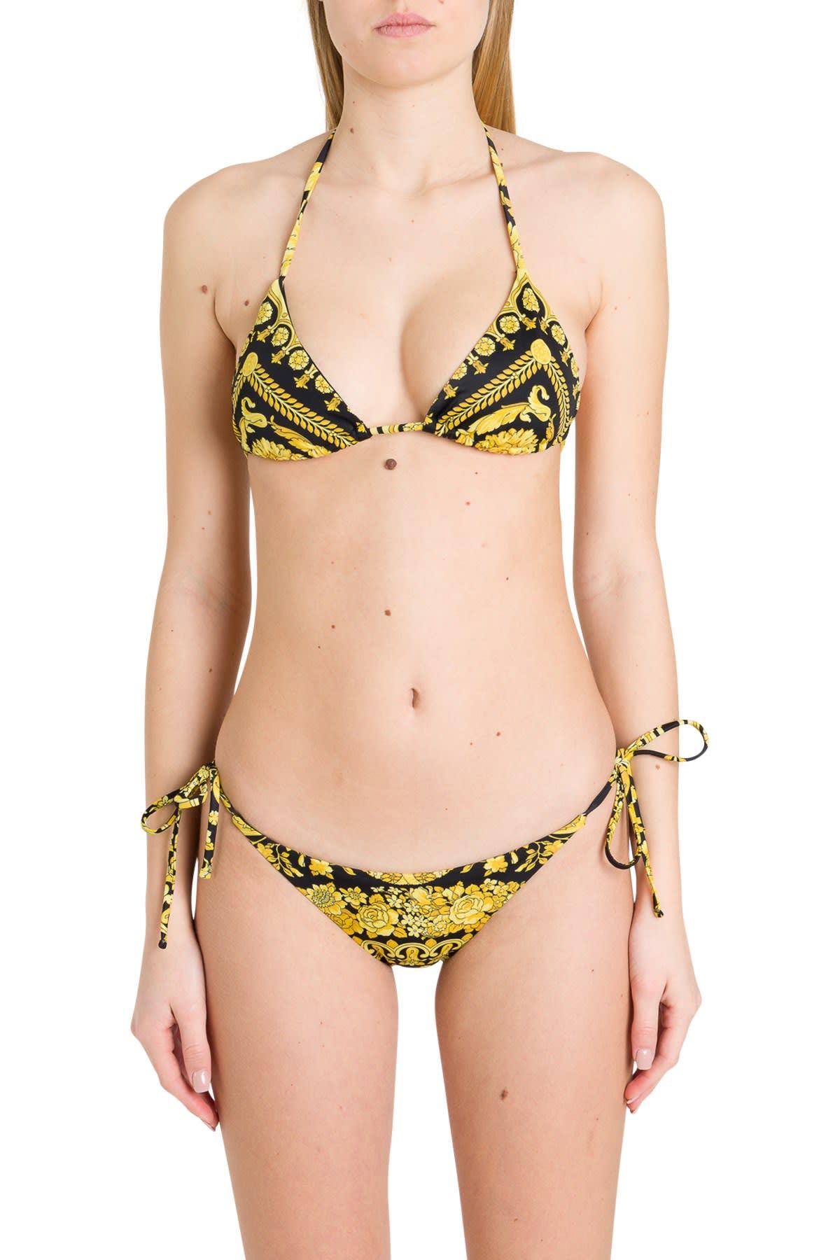 Versace Baroque Bikini Top