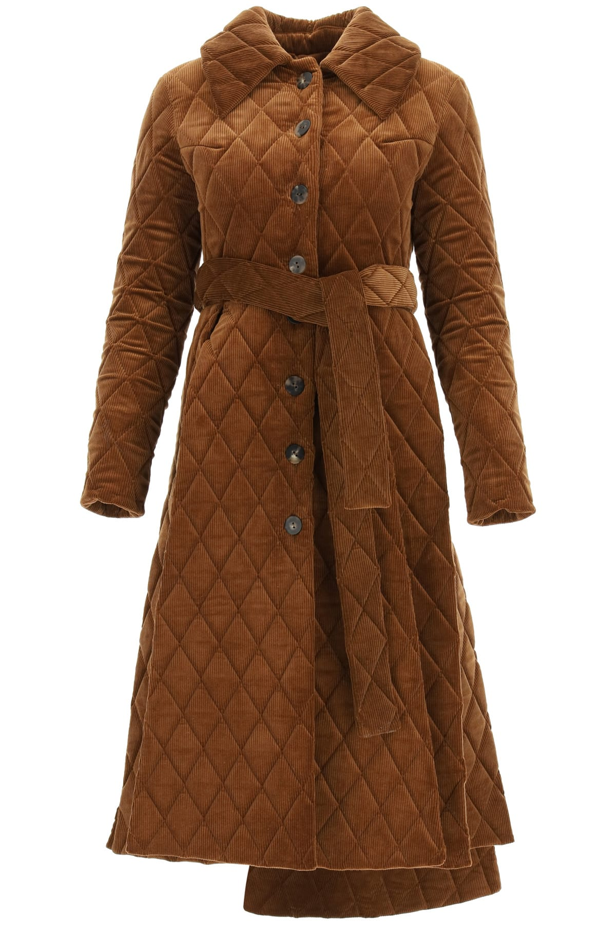 A.w.a.k.e. Clothing QUILTED CORDUROY COAT