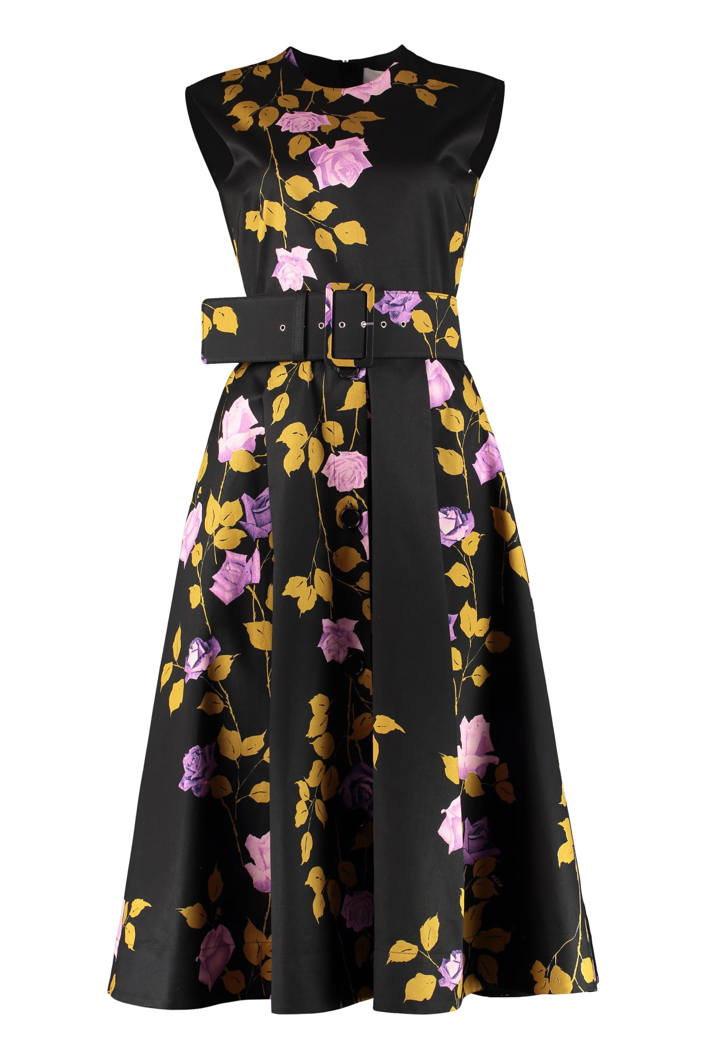 Buy MSGM Dress With Floral Print online, shop MSGM with free shipping