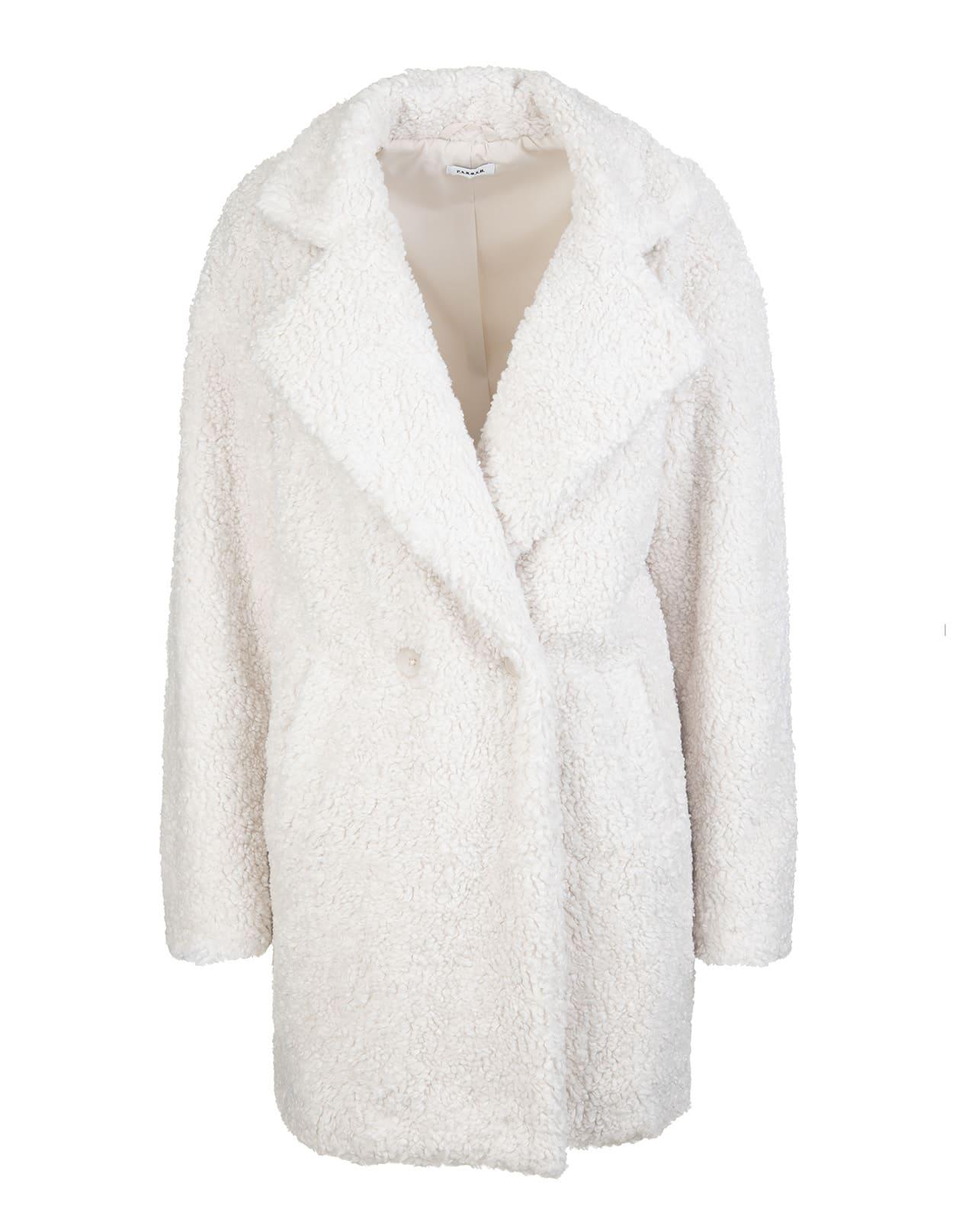 Parosh White Eco-fur Jacket